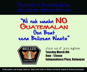 Belizeans Protest Guatemalan Military Intimidation